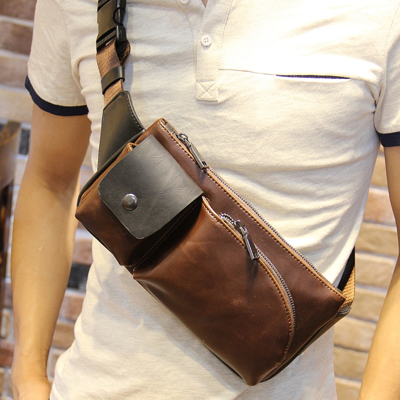 Men s bag men s chest messenger bag small bag tide leisure pockets Korean shoulder  bag Chinatown exploration f2a9776ccb