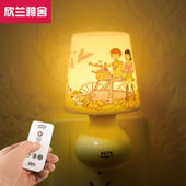 Plug-In Remote-Controlled LED Night Light