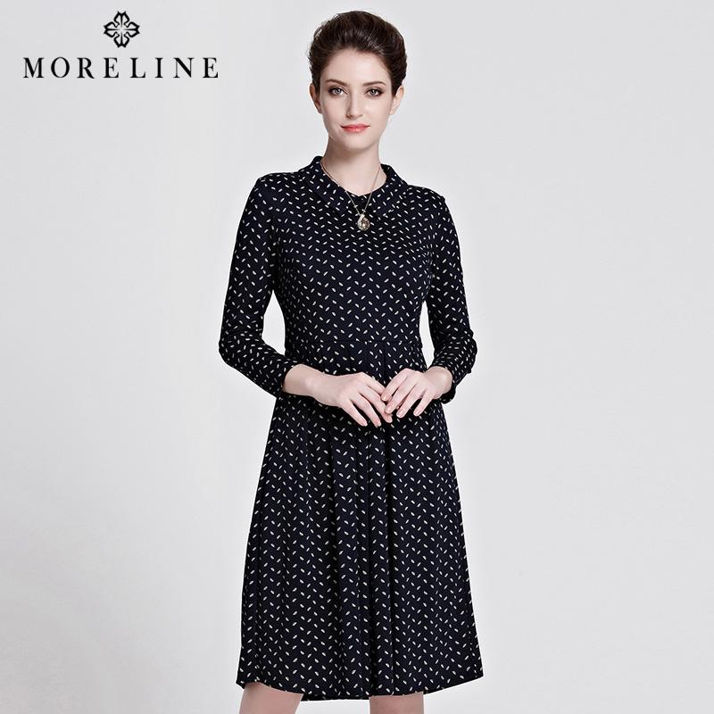 商场同款MORELINE沐兰针织连衣裙8524333