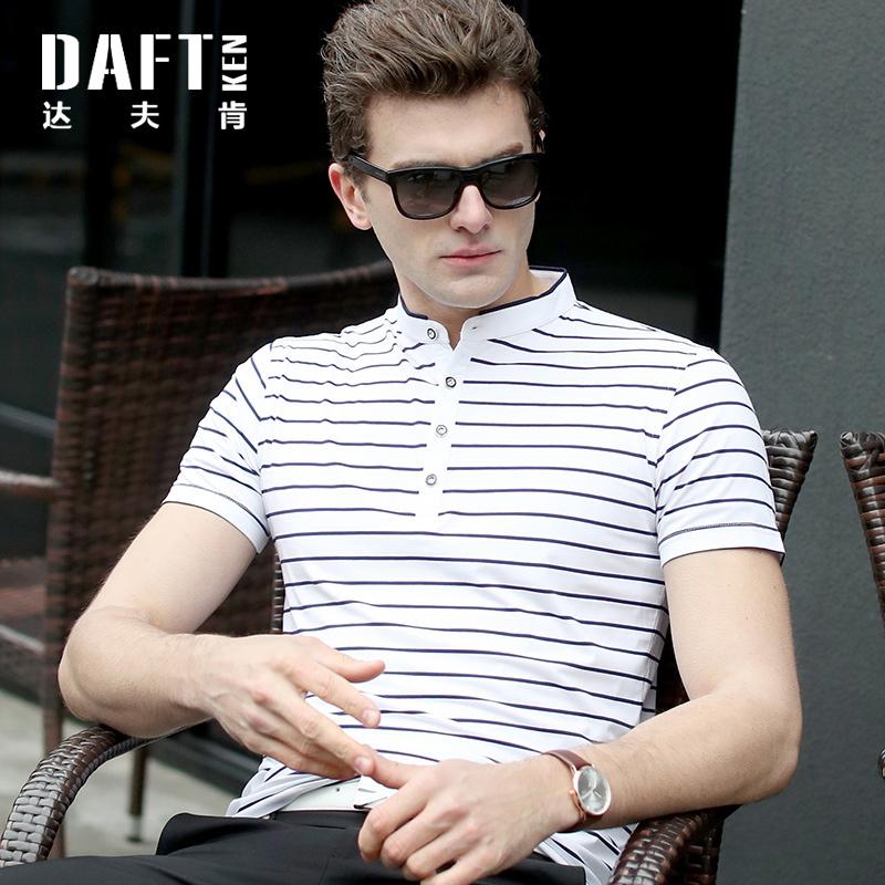 男士夏天衣服海魂衫有领短袖t恤 纯棉条纹港风POLO衫中国风半袖男