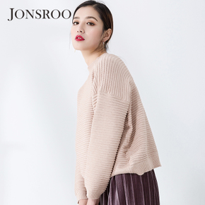 新款女装针织衫长袖短款打底衫