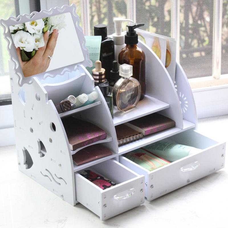 天堂牧歌抽屉式桌面盒弧形美花