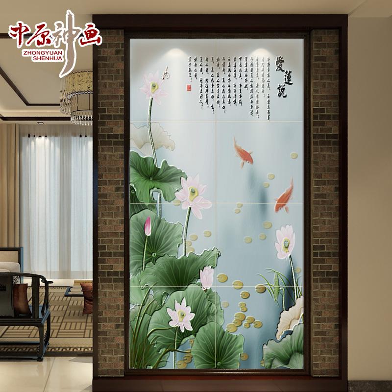 中原神画瓷砖欧式3d微晶石