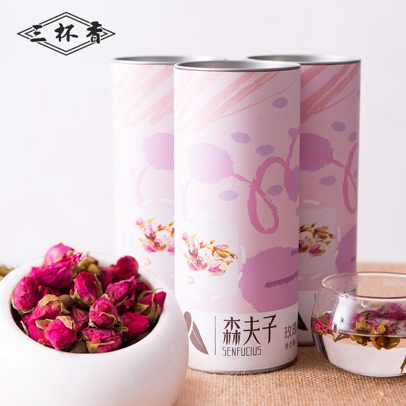 三杯香平阴玫瑰花茶60g灌装