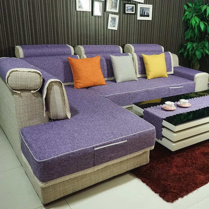 好多家四季沙发垫新款混纺面料沙发笠