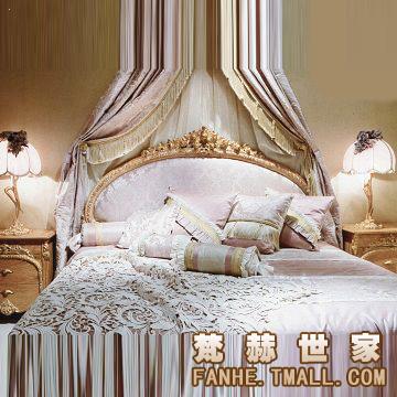 梵赫欧式古典雕花双人床4bs325