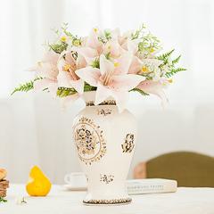 花瓶陶瓷器插花器冰裂纹瓷时尚家居饰品欧式客厅餐厅桌面茶几摆件