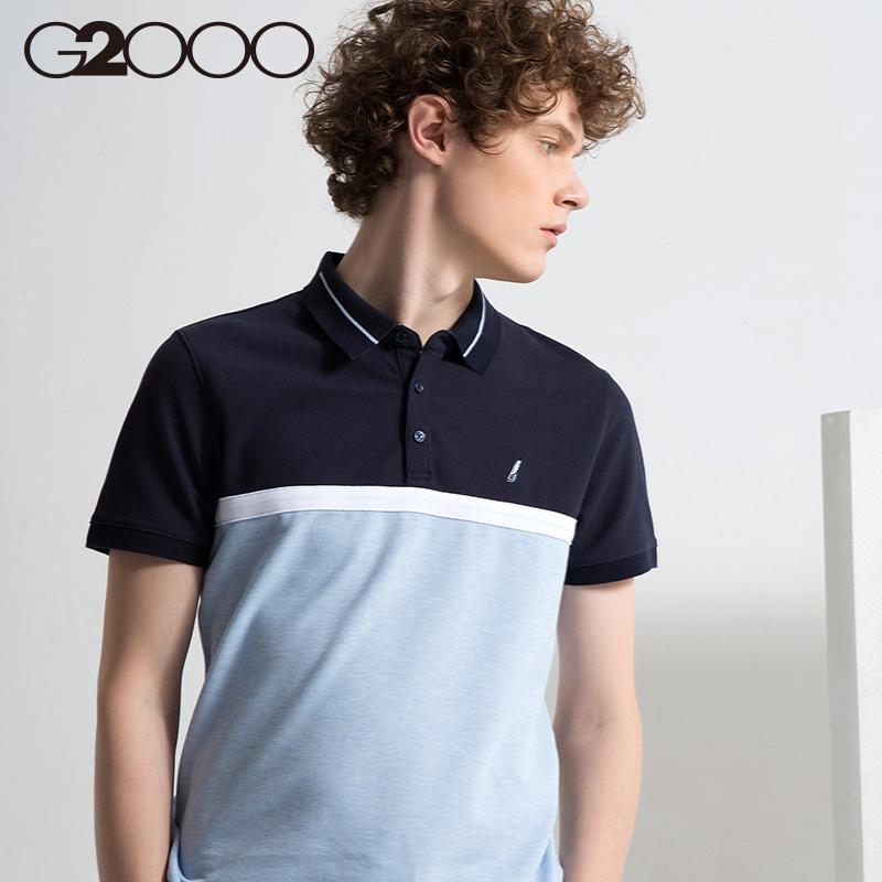 G2000时尚韩版透气男装短袖POLO衫 新款休闲青春修身上衣男