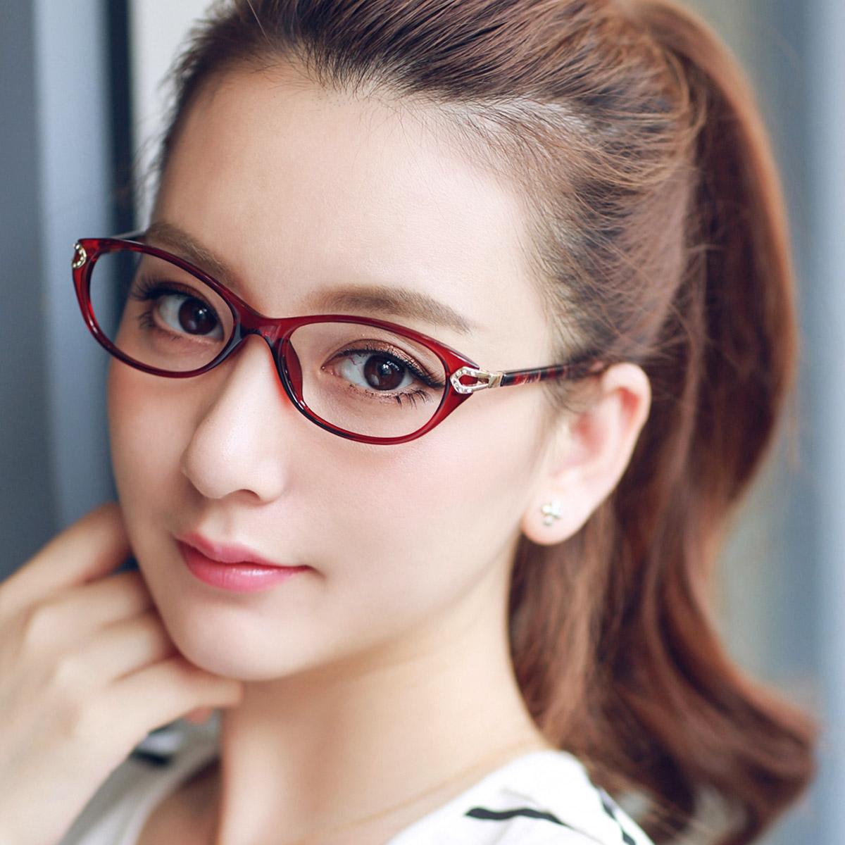 近视眼镜女超轻tr90眼镜框近视女款眼镜架女成品韩版眼镜框变色