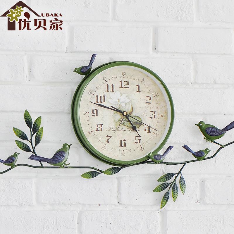 优贝家创意田园挂钟时钟