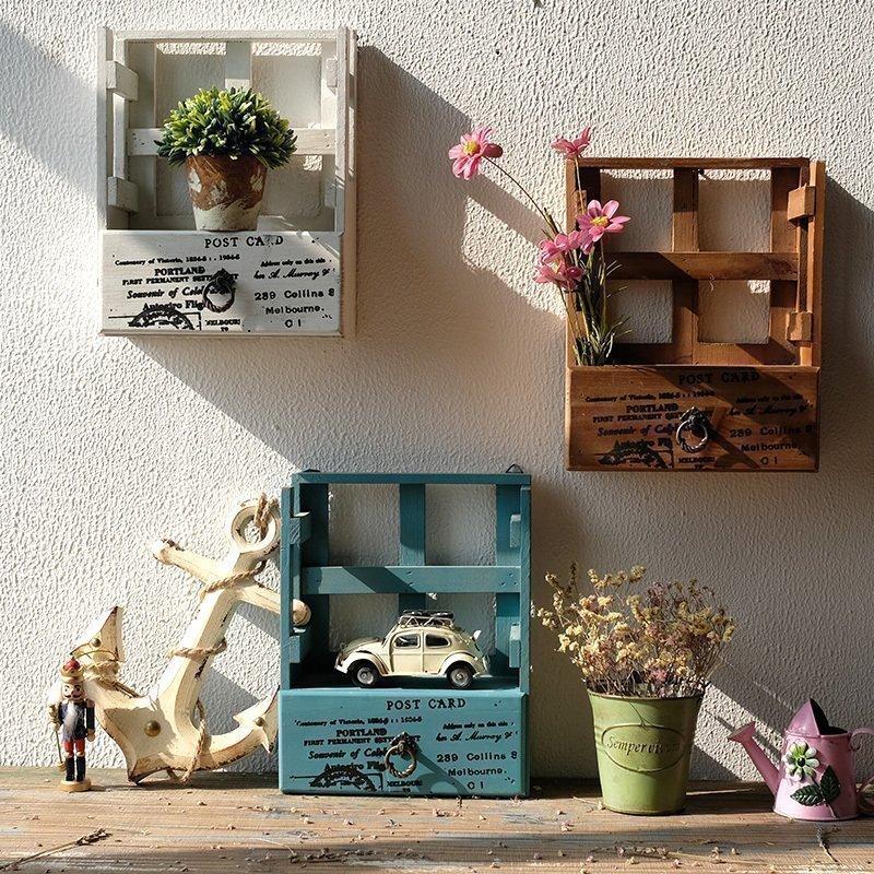 法慕小城实木挂柜美式乡村储物柜