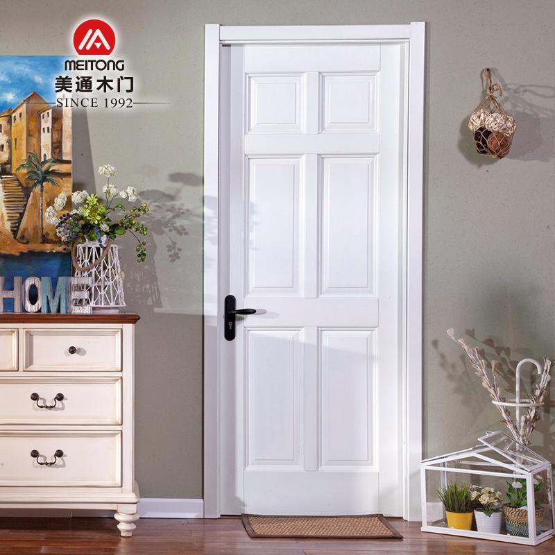 美通木门纯原木门白色室内门HDW-6S