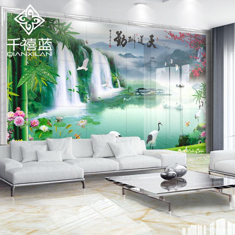千禧蓝现代中式风格瓷砖雅之蓝-风景如画系列