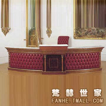 梵赫欧式古典办公桌3sz033