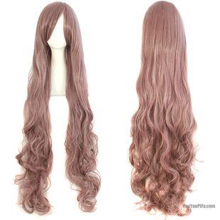 Long hair wig female big wave 100cm long in the face of air volume long hair repair bangs wig cosplay