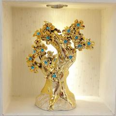 欧式现代陶瓷创意发财树家居装饰工艺品摆件客厅电视柜开业送礼品
