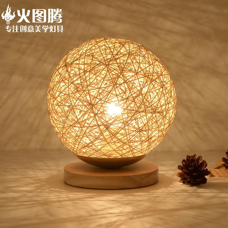 火图腾美式乡村麻球台灯HT-3006