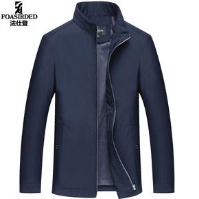 新款外套薄款立领爸爸装休闲翻领上衣夹克