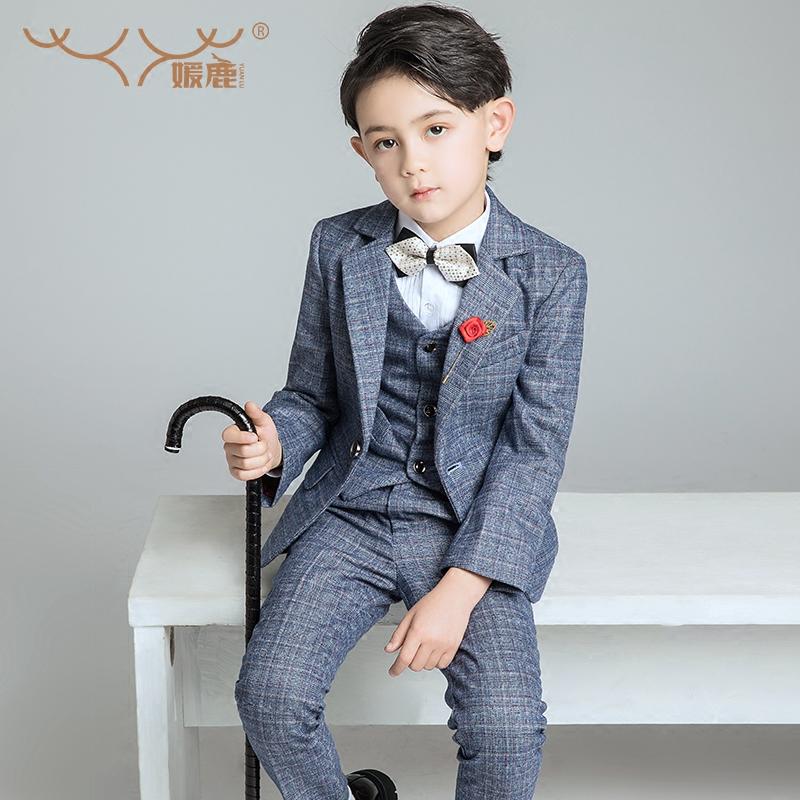 儿童西装套装男童西服花童礼服秋演出服小童宝宝外套韩版男孩新款