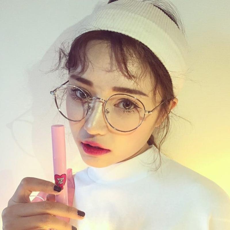韩版潮复古眼镜框架金属圆框近视金色平光复古女文艺潮可配镜眼睛
