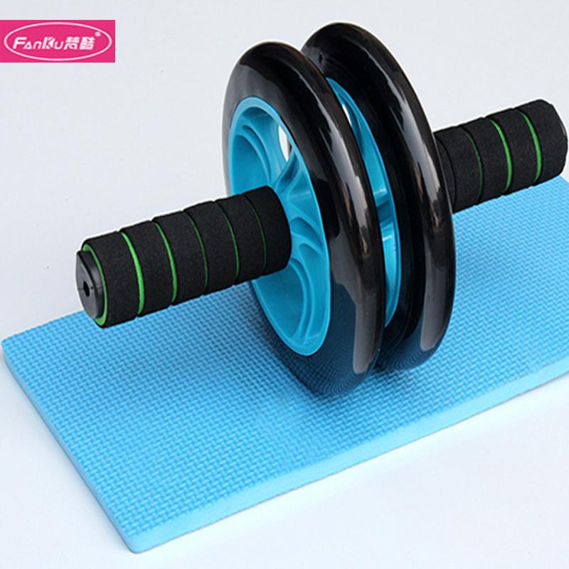 梵酷环保双静音健腹轮腹肌轮健身器材 收腹轮送跪垫