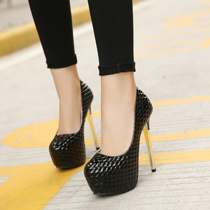 Night Club shoes, Smooth high-heeled shoe, Platform