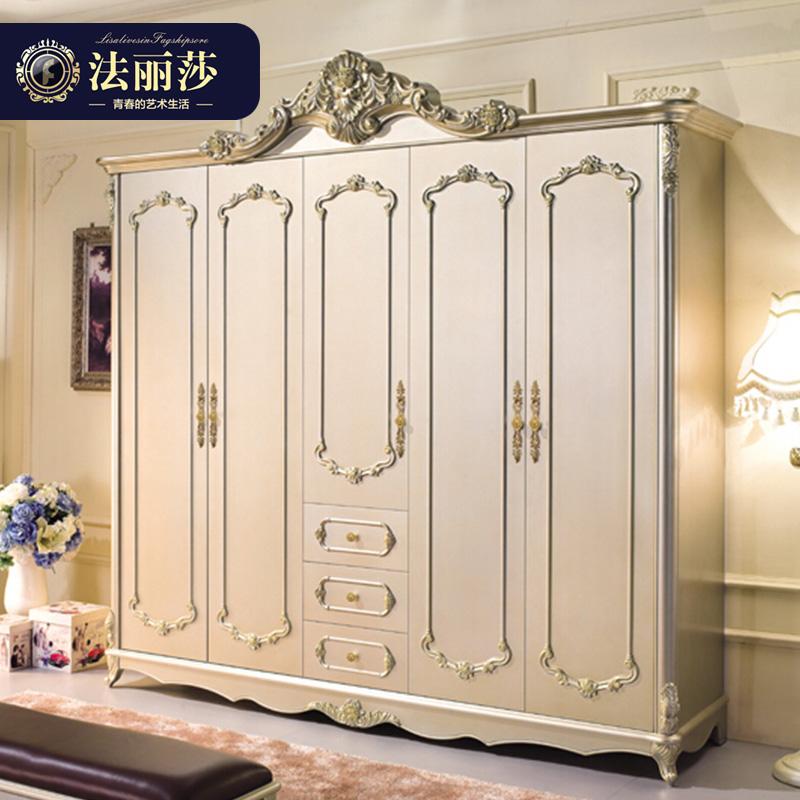 法丽莎家具y1欧式衣柜019 五门 衣柜