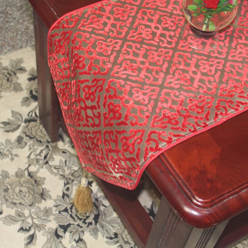 丝茉尔精巧婚庆红色中式欧式餐桌ZQ03