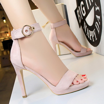 3583-2 in Europe and the us show thin fine with high heels high heels for women's shoes and contracted wind waterproof b