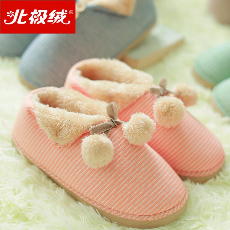 跟棉拖鞋情侣可爱男女士家居保暖拖鞋冬天月子毛毛鞋