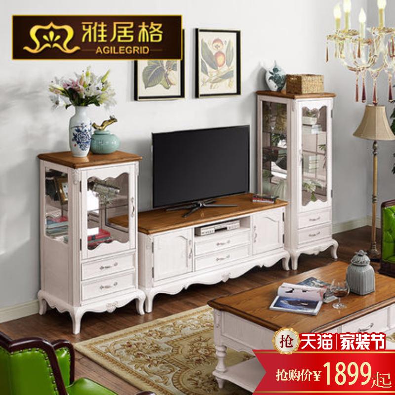 雅居格地中海美式实木影视柜m5125