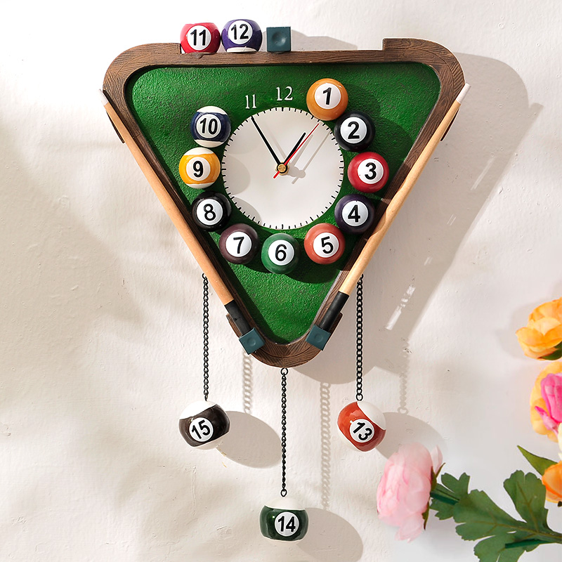 英伦欧堡创意桌球挂钟