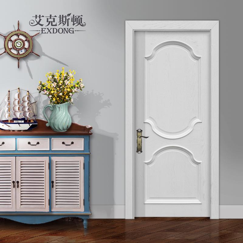 艾克斯顿地中海纯白色室内纯实木门n18