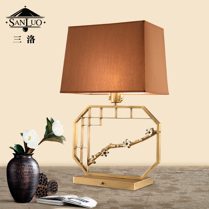三洛新中式全铜台灯t025