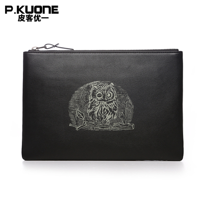 2016 new owl men envelope envelope leather business casual large-capacity wallet leather hand bag