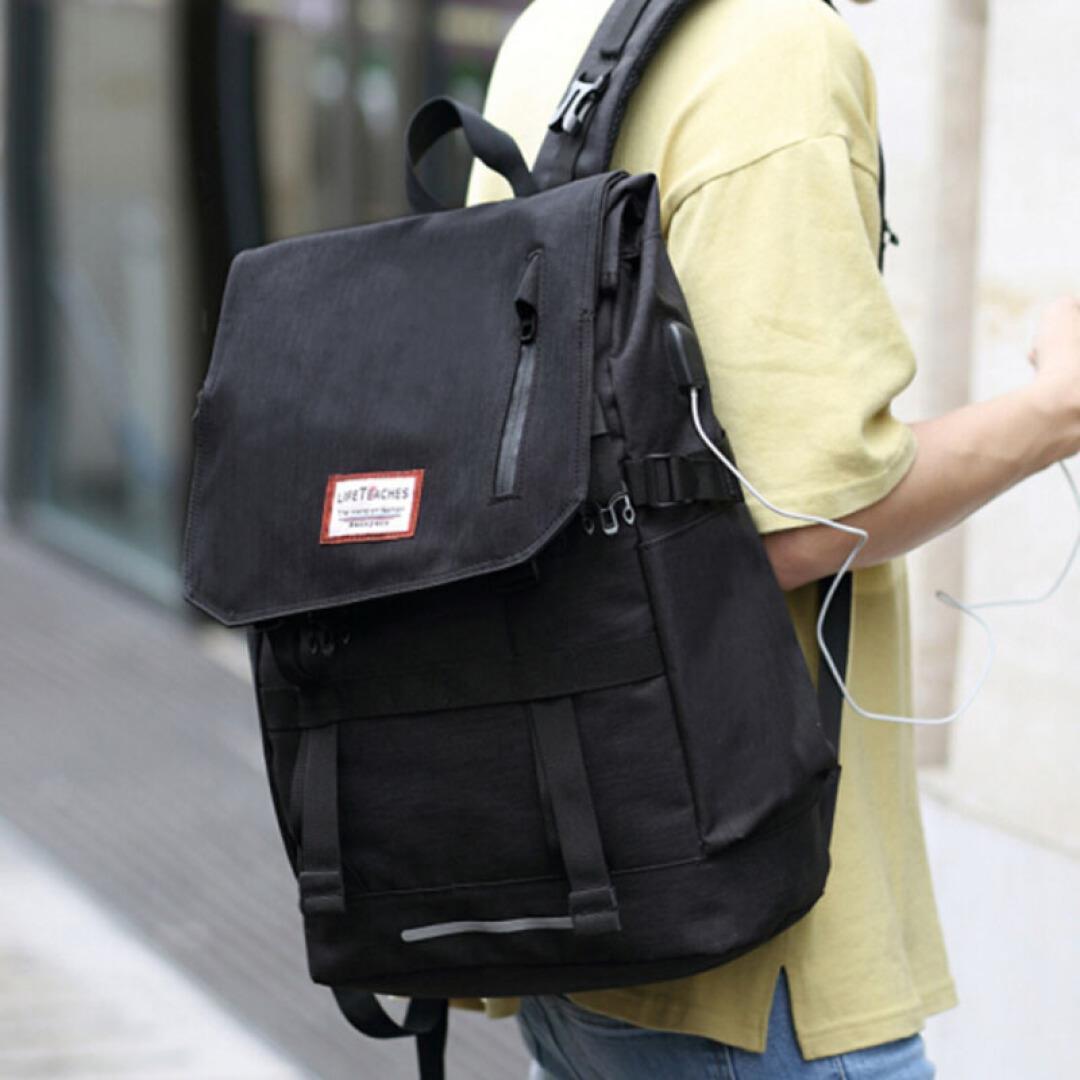 韩版高中生大学生书包 休闲男士双肩包男帆布旅行背包电脑包男时_7折