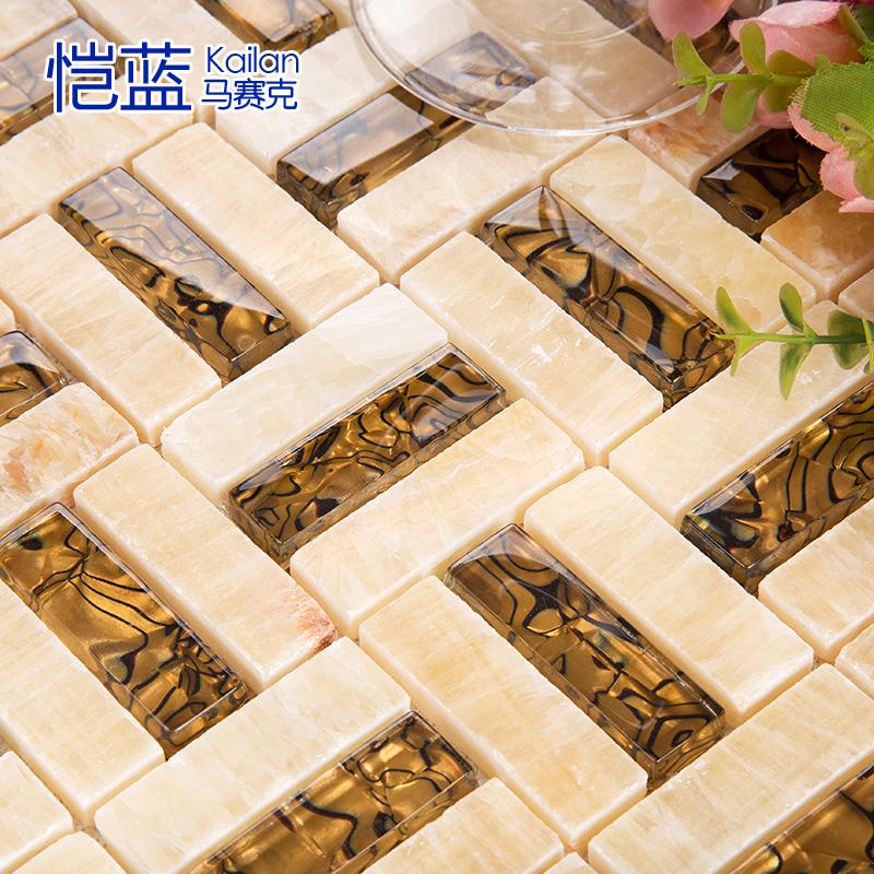 恺蓝马赛克电视墙腰线瓷砖 GW3RG48