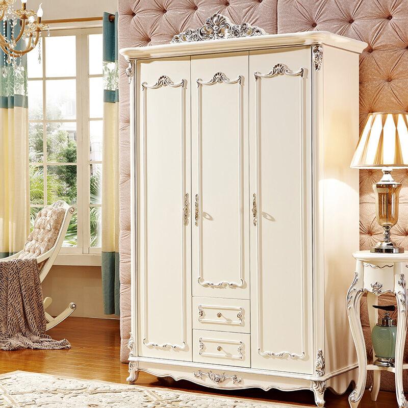 爱尚妮私欧式家具品质大容量田园衣柜8003