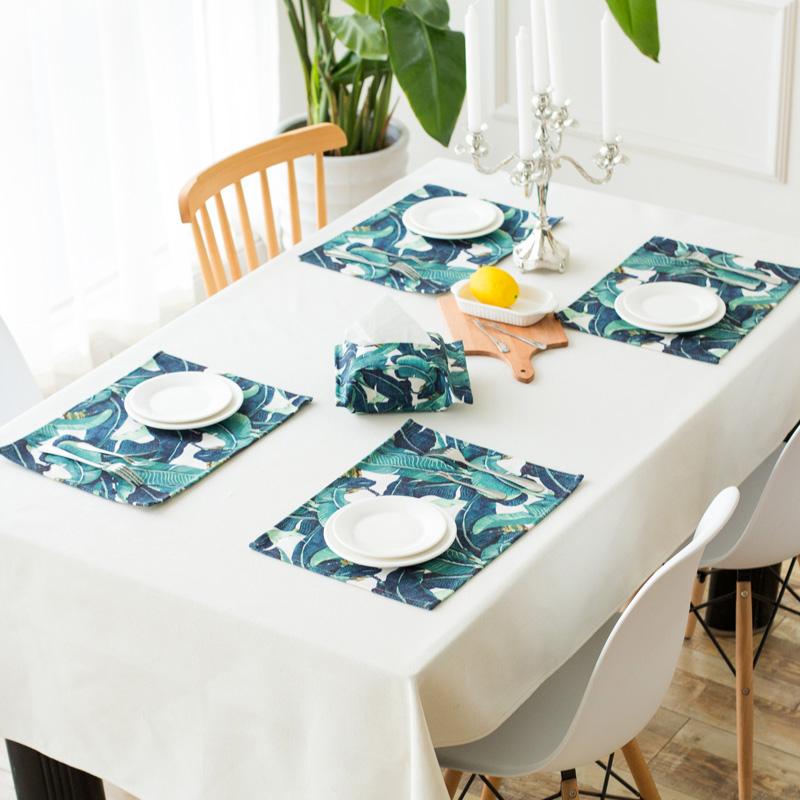 艾丽卡尔清新棉麻西餐垫qwe123