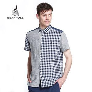 BEANPOLE/滨波 夏装男士时尚休闲短袖衬衫 BC5365003