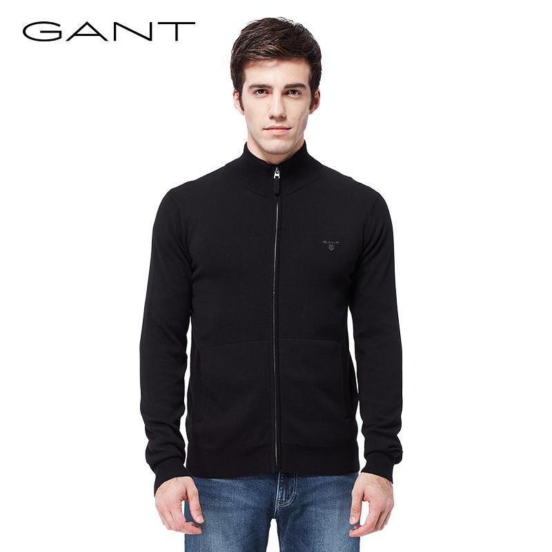 GANT-甘特早秋新品 男士半高拉链领针织衫 毛衣外套 83074