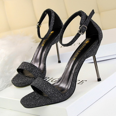 9923-2 in Europe and the sexy club for women's shoes high-heeled shoes high heel with waterproof gold shining one word w