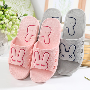 Sandals and slippers couple cute female summer home home interior slip bath home bathroom slippers men's bottomed plastic
