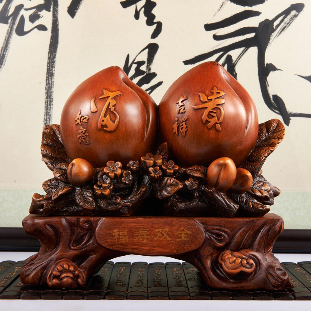 大号寿桃摆件长辈祝寿贺寿礼品6080大寿送老人生日礼物实用工艺品