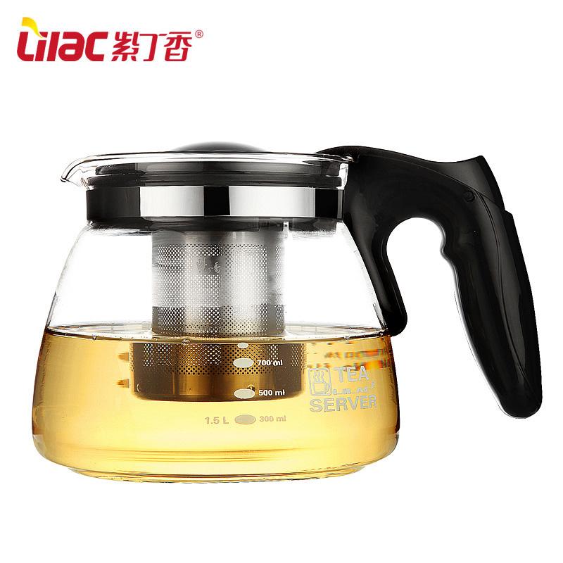 紫丁香耐热玻璃过滤茶壶茶壶 CH39