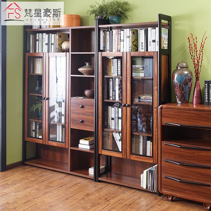 梵星豪斯实木简约现代中式书柜PSP5012N