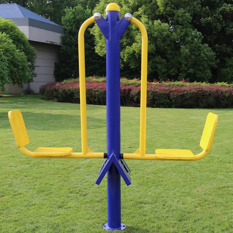 室外健身器材 双人坐蹬 学校健身器 广场小区公园全民健身路径