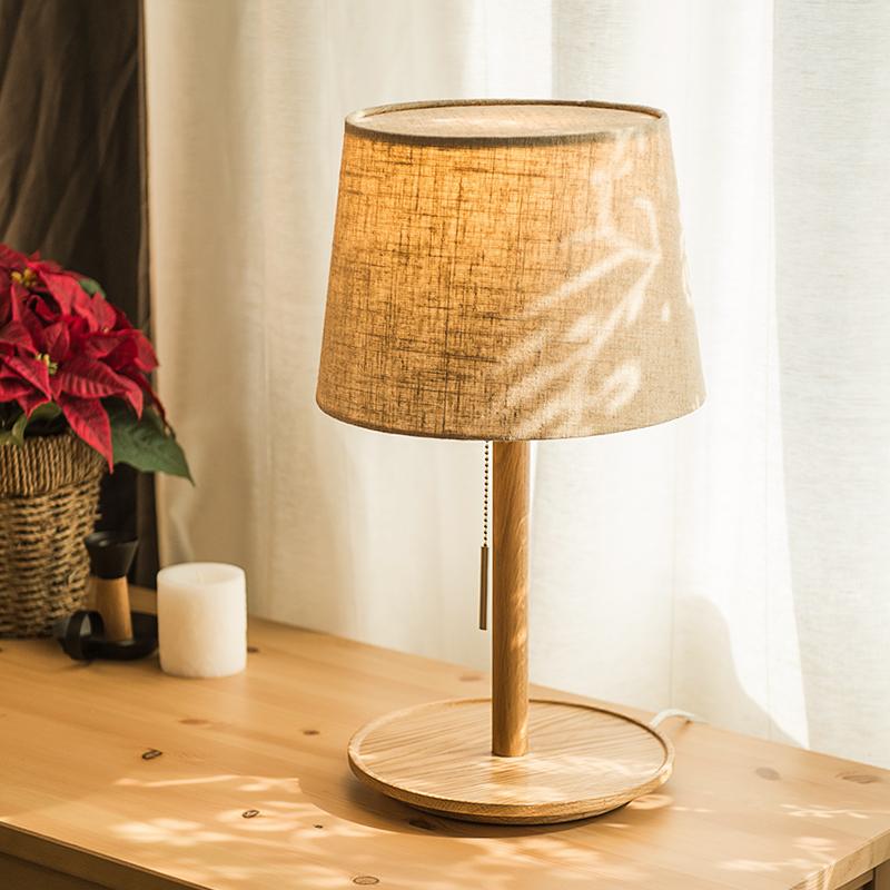 旭呈北欧婚房日式实木现代小床头灯XCTL3143A