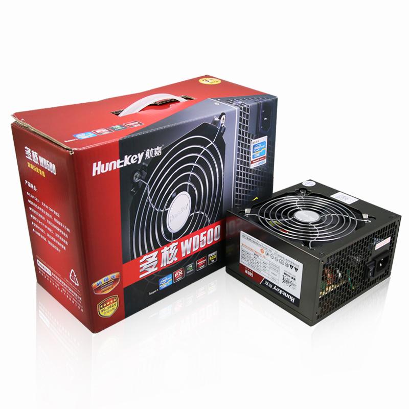 航嘉多核WD500电脑电源台式机电源额定500W主机宽电压背线电源