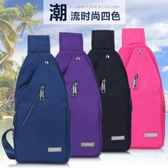 LUXFREE韩版潮春夏防水女士胸包休闲帆布包女包斜背包运动包